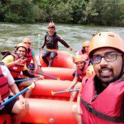 Selfie during kolad rafting
