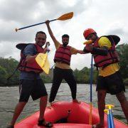 Fun after rafting