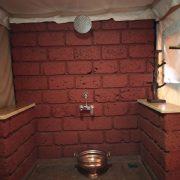 Swiss tent bathroom