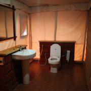 Swiss tent washrooms