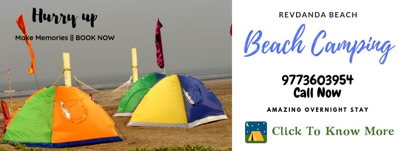 Revdanda Beach Camping near Mumbai