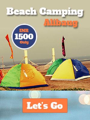 beach camping revdanda