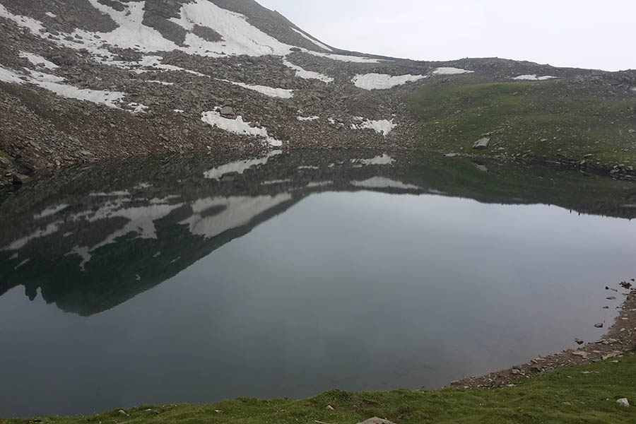 Bhrigu lake in Winter