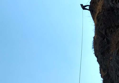 rappelling small steps