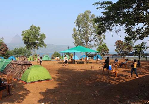 campsite at pawna