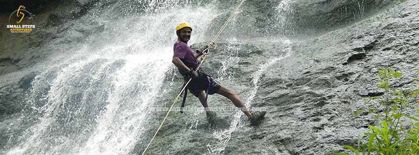 waterfall rappelling in Maharashtra