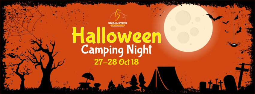 halloween party night camping